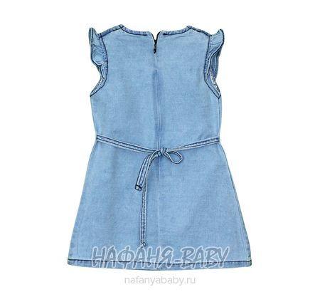 Детское джинсовое платье Moda Zeo арт: 3202, 5-9 лет, 1-4 года, цвет голубой, оптом Турция