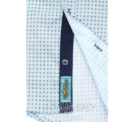 Детская рубашка NORMANI арт: 339 10-14, штучно, 10-15 лет, цвет темно-серый с коричневыми вставками, размер 146, оптом Турция