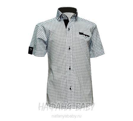 Детская рубашка NORMANI арт: 339 10-14, штучно, 10-15 лет, цвет белый, вставки темно-серый, размер 158, оптом Турция