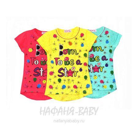 Детская футболка LILY Kids арт: 3500, 1-4 года, 5-9 лет, цвет аквамариновый меланж, оптом Турция