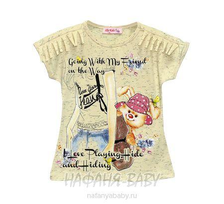 Детская футболка LILY KIDS арт: 3519, штучно, 1-4 года, 5-9 лет, цвет кремовый меланж, размер 116, оптом Турция