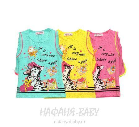 Детский комплект (майка+шорты) LILY Kids арт: 3547, штучно, 1-4 года, цвет розовый меланж, размер 98, оптом Турция