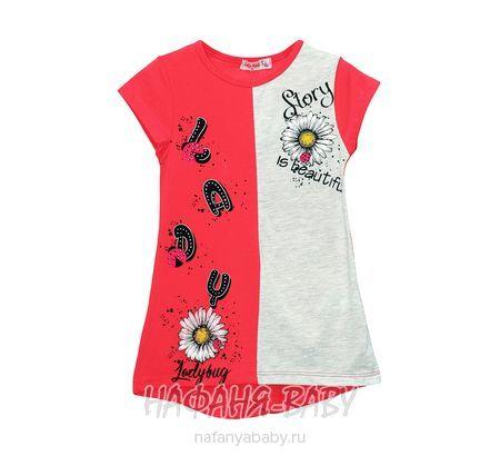 Детская трикотажная туника LILY Kids арт: 3614, 5-9 лет, цвет малиновый, оптом Турция