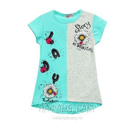 Детская трикотажная туника LILY Kids арт: 3614, 5-9 лет, цвет бирюзовый, оптом Турция