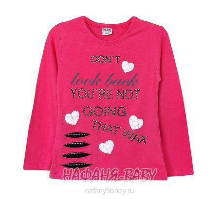 Лонгслив для девочки NARMINI арт: 4806, 1-4 года, 5-9 лет, цвет малиновый, оптом Турция