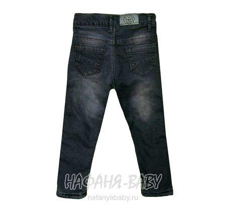 Подростковые теплые джинсы TATI Jeans арт: 4896, 5-9 лет, 10-15 лет, цвет черный, оптом Турция
