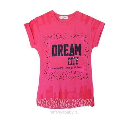 Детская футболка LILY Kids арт: 5015, 10-15 лет, 5-9 лет, цвет персиковый, оптом Турция