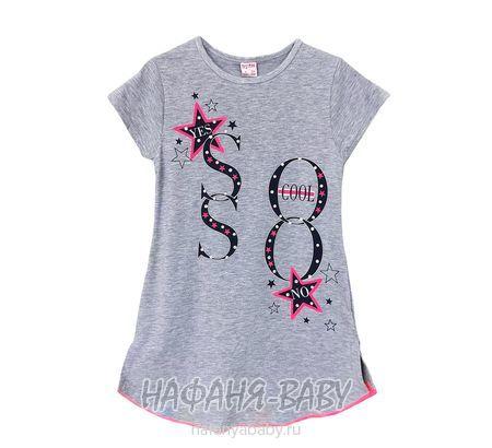 Подростковое платье-туника LILY Kids арт: 5021, 10-15 лет, цвет серый меланж, оптом Турция