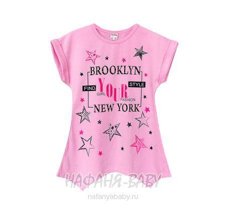 Детская трикотажная туника LILY Kids арт: 5024, 10-15 лет, цвет розовый, оптом Турция