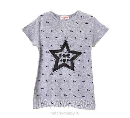 Детская футболка LILY Kids арт: 5030, 10-15 лет, 5-9 лет, цвет серый меланж, оптом Турция