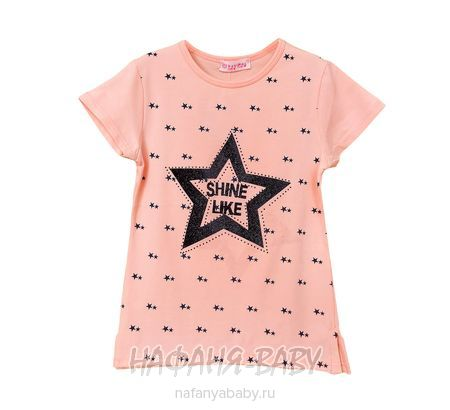 Детская футболка LILY Kids арт: 5030, 10-15 лет, 5-9 лет, цвет персиковый, оптом Турция