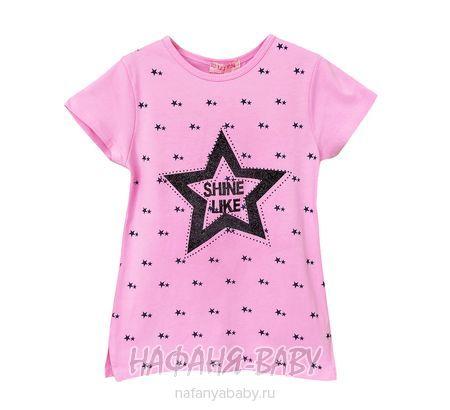Детская футболка LILY Kids арт: 5030, 10-15 лет, 5-9 лет, цвет розовый, оптом Турция
