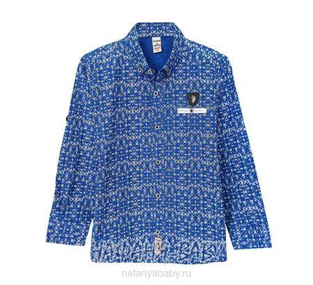 Детская рубашка WAXMEN арт: 5123, 5-9 лет, цвет синий, оптом Турция
