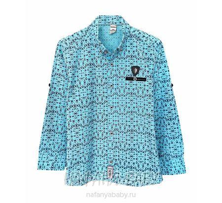 Детская рубашка WAXMEN арт: 5123, 5-9 лет, цвет голубой, оптом Турция