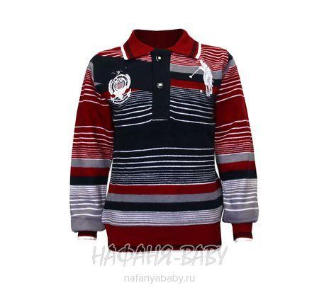 Детская рубашка-поло SOOW арт: 5141, штучно, 1-4 года, цвет бордовый с серым, размер 92, оптом Турция