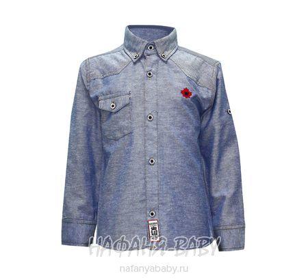Детская рубашка WAXMEN арт: 5108, штучно, 5-9 лет, цвет серо-голубой, размер 134, оптом Турция
