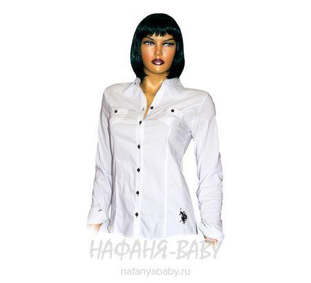 Детская блузка MINE`NS POLO арт: 3480, штучно, 10-15 лет, молодежный, цвет белый, размер 164, оптом Турция
