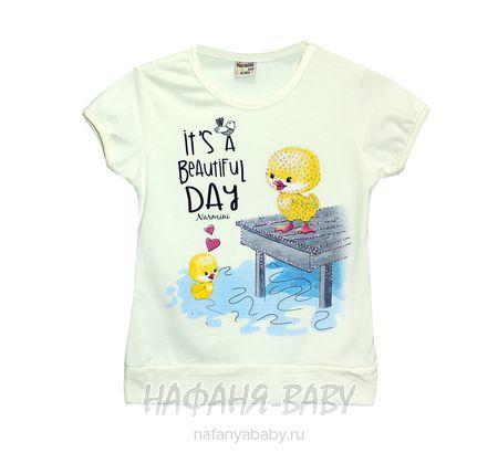 Детская футболка NARMINI арт: 5535, 1-4 года, цвет кремовый, оптом Турция