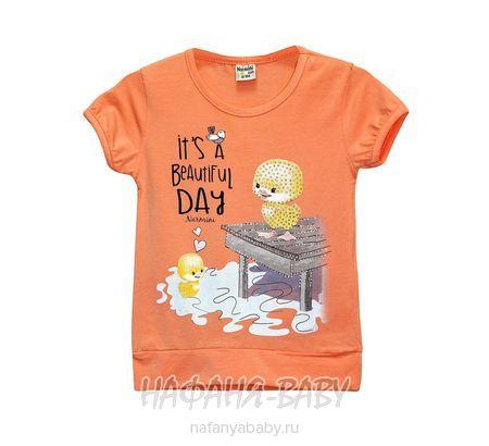 Детская футболка NARMINI арт: 5535, 1-4 года, цвет персиковый, оптом Турция