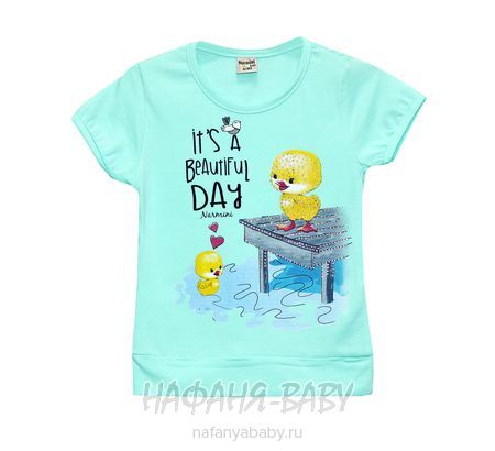Детская футболка NARMINI арт: 5535, 1-4 года, цвет аквамариновый, оптом Турция