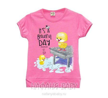 Детская футболка NARMINI арт: 5535, 1-4 года, цвет розовый, оптом Турция