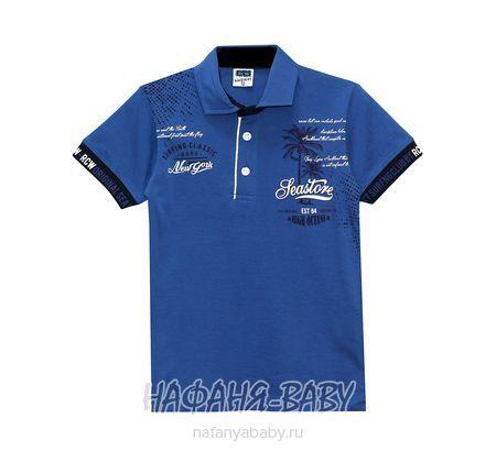 Детская рубашка-поло RCW арт: 5562, 5-9 лет, цвет сине-серый, оптом Турция