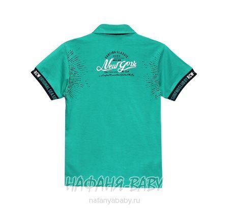 Детская рубашка-поло RCW арт: 5562, 5-9 лет, цвет бирюзовый, оптом Турция