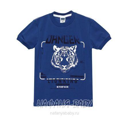 Подростковая футболка RCW арт: 6579, 10-15 лет, цвет сине-серый, оптом Турция