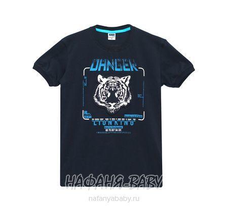 Подростковая футболка RCW арт: 6579, 10-15 лет, цвет темно-синий, оптом Турция