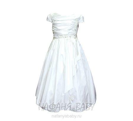 Нарядное платье для девочки BABY MOSES арт: 6185, 1-4 года, 5-9 лет, цвет белый, оптом Китай (Пекин)