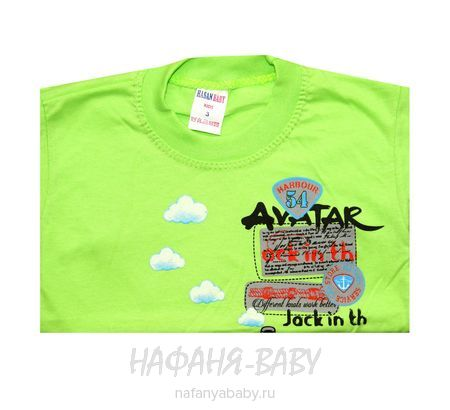 Детская футболка HASAN Bebe арт: 6213, 1-4 года, цвет зеленый, оптом Турция