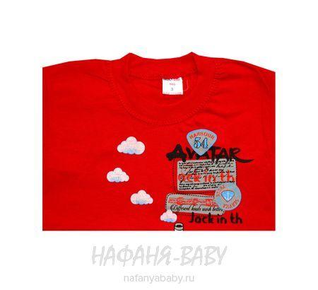 Детская футболка HASAN Bebe арт: 6213, 1-4 года, цвет красный, оптом Турция