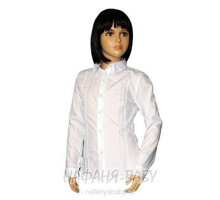 Детская белая блузка DIVA STYLE арт: 1038, штучно, 5-9 лет, 10-15 лет, цвет белый, размер 140, оптом Турция