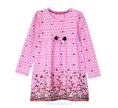 Детское платье, артикул.7712 TOONTOY арт: 7712, 1-4 года, 5-9 лет, цвет розовый, оптом Турция