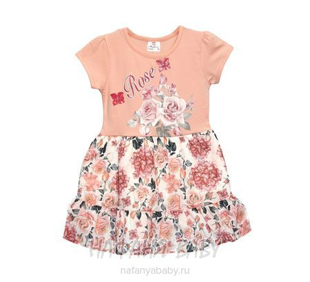 Детское платье Miss Feriha арт: 667, 5-9 лет, 1-4 года, цвет чайная роза, оптом Турция