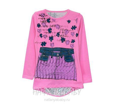 Детская трикотажная туника UNRULY арт: 3003, штучно, 5-9 лет, цвет розовый, размер 116, оптом Турция