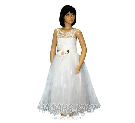 Нарядное платье GEPETTO арт: 0629, штучно, 5-9 лет, цвет молочный, размер 116, оптом Турция