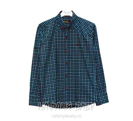 Детская рубашка BOLD арт: 14154, штучно, 10-15 лет, цвет темно-синий, размер 140, оптом Турция