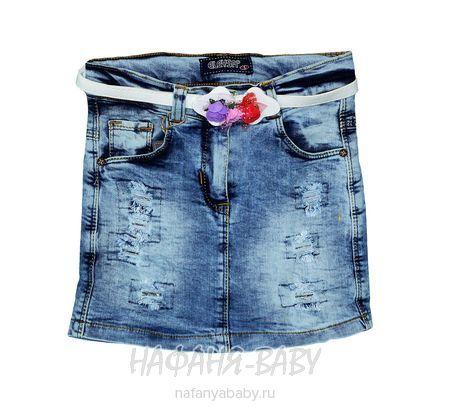 Джинсовая юбка ELEYSA арт: 7045, штучно, 5-9 лет, цвет синий, размер 116, оптом Турция