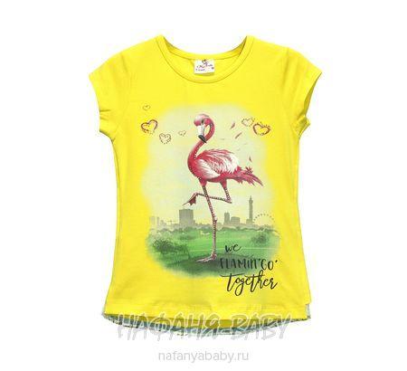 Детская футболка Miss Feriha арт: 705, 5-9 лет, 1-4 года, цвет желтый, оптом Турция
