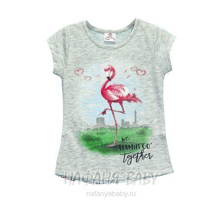 Детская футболка Miss Feriha арт: 705, 5-9 лет, 1-4 года, цвет серый меланж, оптом Турция