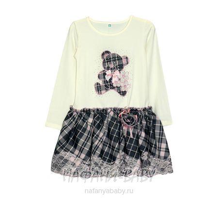 Детское платье TIGABEAR арт: 1034, 1-4 года, 5-9 лет, цвет розовый, оптом Китай (Пекин)