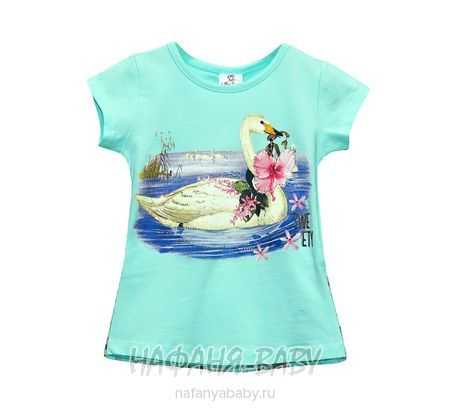 Детская футболка Miss Feriha арт: 707, 5-9 лет, 1-4 года, цвет аквамариновый, оптом Турция