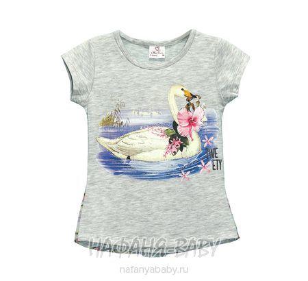 Детская футболка Miss Feriha арт: 707, 5-9 лет, 1-4 года, цвет серый меланж, оптом Турция