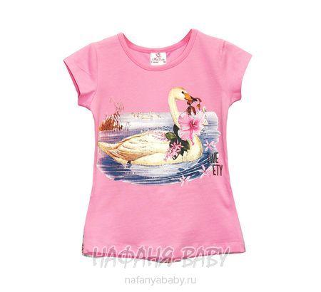 Детская футболка Miss Feriha арт: 707, 5-9 лет, 1-4 года, цвет розовый, оптом Турция