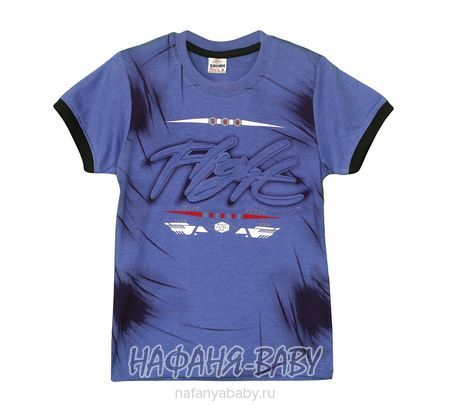 Детская футболка SAHIN арт: 807, 10-15 лет, 5-9 лет, цвет сине-серый, оптом Турция