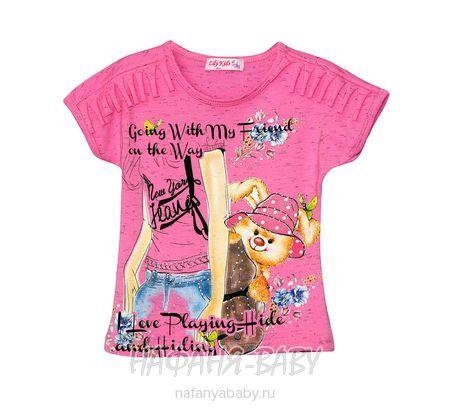 Детская футболка LILY Kids арт: 3519, цвет малиновый меланж, оптом Турция