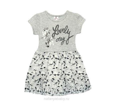 Детское платье Miss Feriha арт: 734, 5-9 лет, 1-4 года, цвет серый меланж, оптом Турция