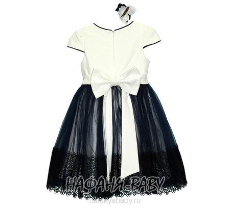 Детское платье ERAY арт: 235, штучно, 5-9 лет, цвет молочный с чайной розой, размер 128, оптом Турция