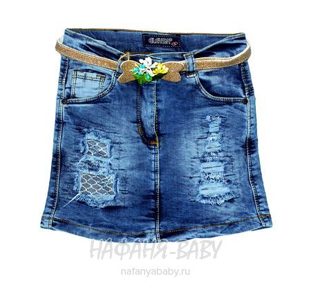 Джинсовая юбка ELEYSA арт: 7045, 5-9 лет, цвет синий, оптом Турция